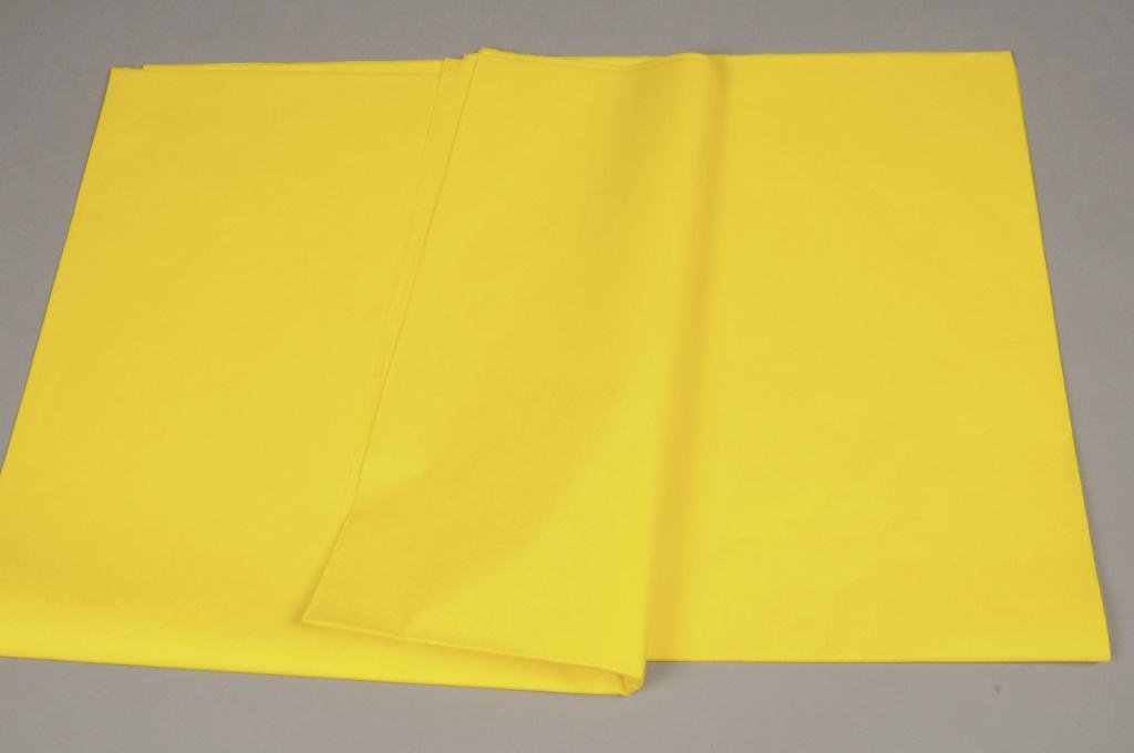 A003AS Paquet de 520 feuilles papier de soie jaune 50x75cm