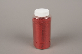 A003BW Pot 400g paillettes rouge