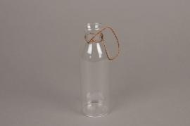 A003IH Bouteille soliflore en verre à suspendre D5cm H15cm