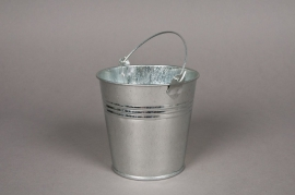 A003KM Bucket zinc natural D13 H12cm