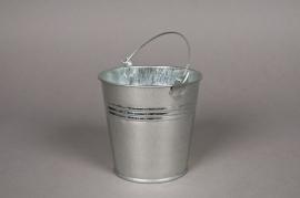 A003KM Seau en zinc naturel D13 H12cm