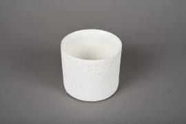 A003N8 White terracotta planter D10.5cm H9cm