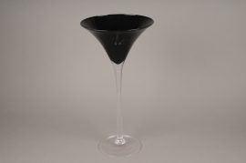 A003NH Black glass Martini vase D26cm H50cm
