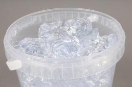 A003QF Bucket 5L clear stones 3 - 5cm