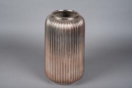A003QL Vase en céramique cuivre D22cm H40cm