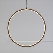A003R5 Cercle en bois naturel et LED D57cm
