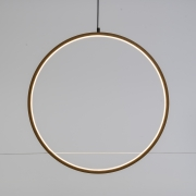 A003R5 Natural wooden circle with LED D57cm