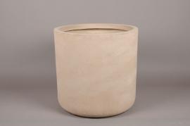 A003XY Cache-pot en fibre sable D34cm H32cm