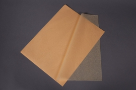 A004AS Ream of 480 tissue paper sheets vanilla yellow 50x75cm