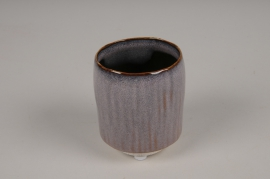 A004BJ Cache-pot en céramique mauve D7cm H9cm