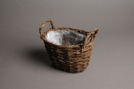 A004CB Wicker baskets 19x10cm H13cm