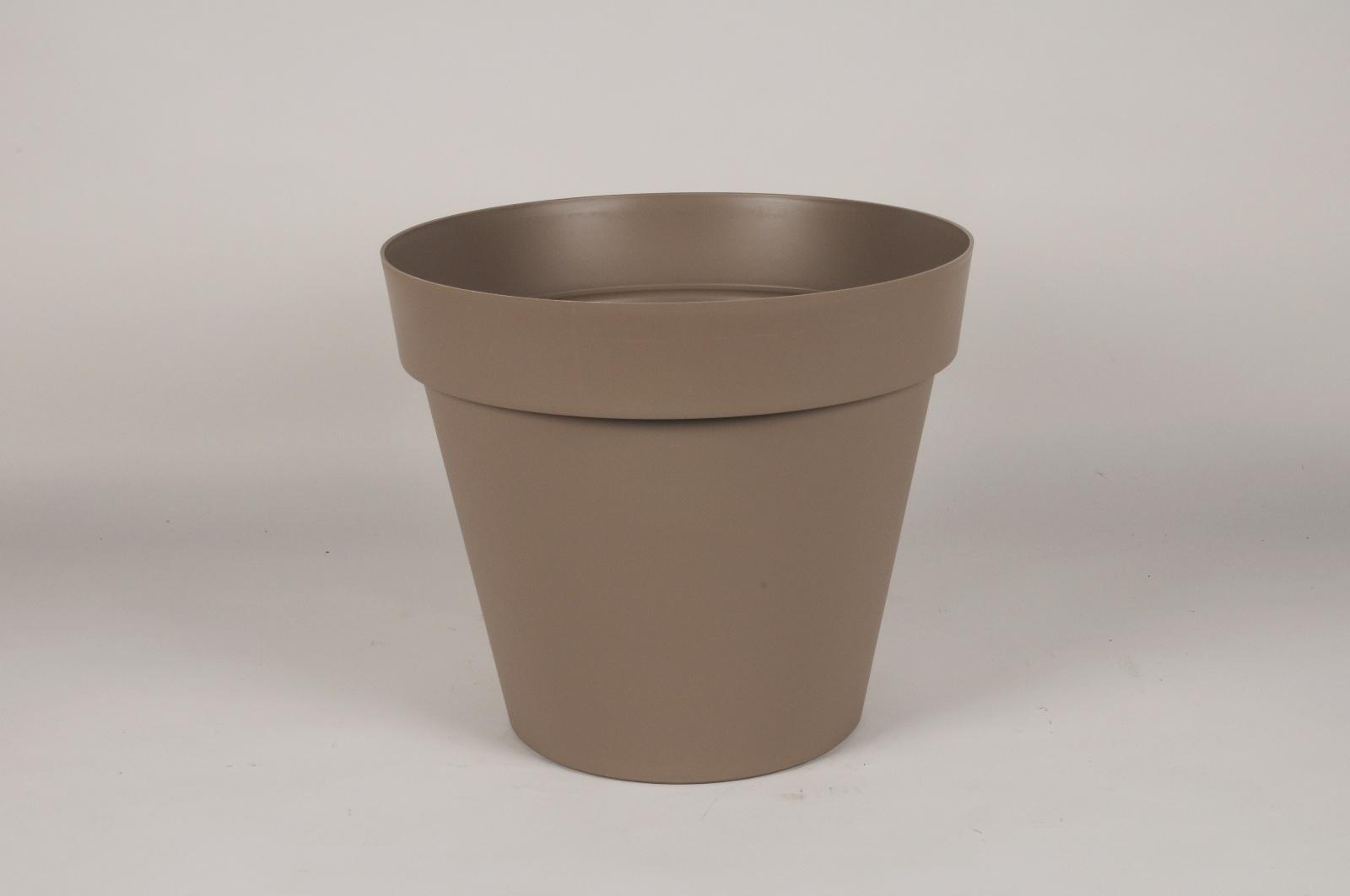 A004DB Pot toscane taupe D40cm H35cm
