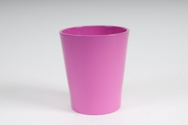 A004DO Planter ceramic Orchid pink D14cm H15cm