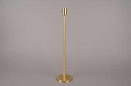 A004E0 Bougeoir métal or H45cm