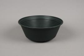 A004H7 Bowl plastic dark green D28cm H11cm