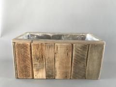 A004HY Bac en bois vielli 31x60cm H29cm
