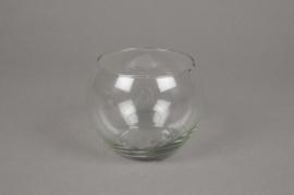 A004I0 Sphere glass vase diameter 10cm height 8,5m