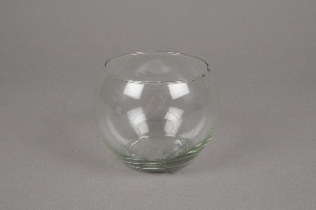 A004I0 Vase en verre boule D10 H8.5cm