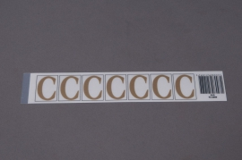 A004K4 Set of 50 letters C 33mm
