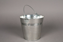 A004KM Bucket zinc natural D16 H14cm