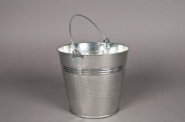 A004KM Bucket zinc natural D16 H14cm