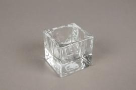 A004SH Glass candleholder 5x5cm H5cm