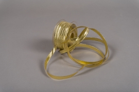 A004UN Gold reinforced fabric ribbon 10mm x 50m