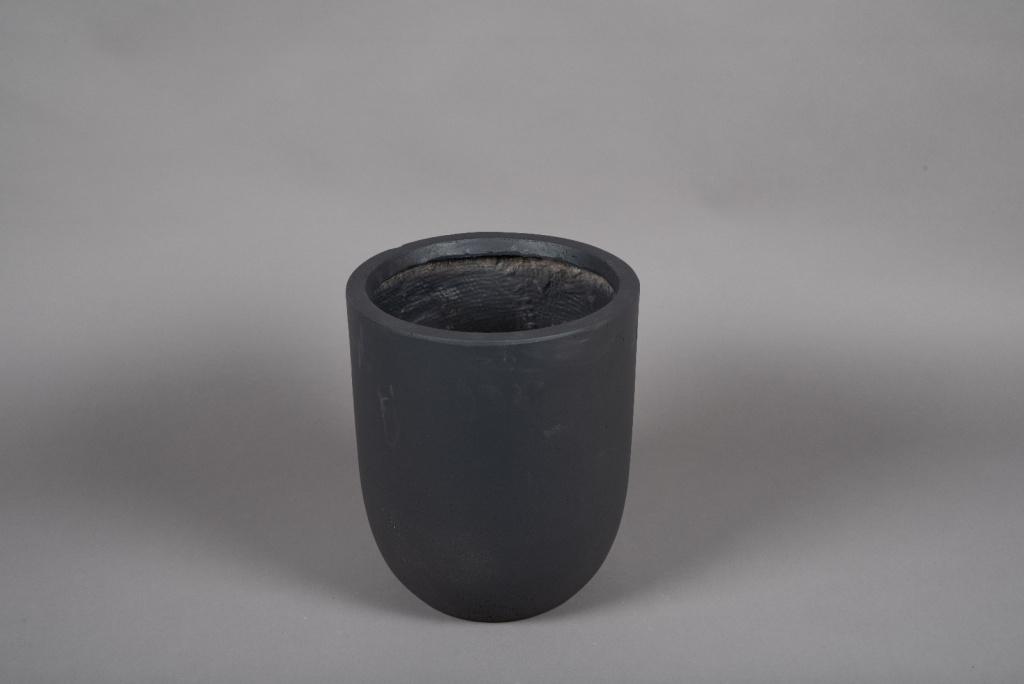 A004VV Pot fibre gris anthracite D28cm H32cm