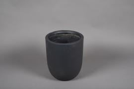 A004VV Grey fiber planter D28cm H32cm