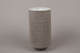 A004W5 Grey stoneware vase D13.5cm H27cm