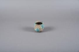 A004ZH Blue ceramic planter D8cm H8cm
