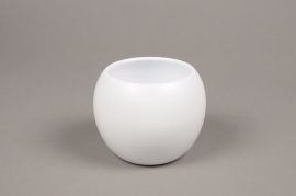 A005A8 White bowl ceramic planter D9cm H10cm