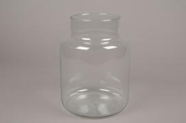 A005G9 Vase bocal en verre D18cm H25cm