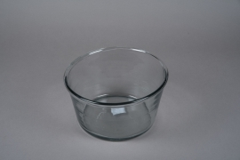 A005H6 Glass bowl D21cm H14cm