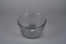A005H6 Glass bowl D21cm H14cm