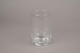 A005H9 Photophore en verre D12cm H19cm