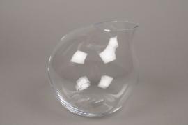 A005IH Vase verre boule déco H18cm