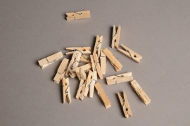 A005J9 Sac de 72 pinces en bois 3,5cm