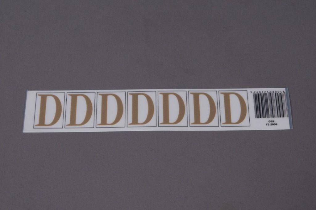 A005K4 Pochette de 50 lettres D 33mm