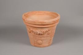 A005Q2 Pot en terre cuite festonné D36cm H32cm