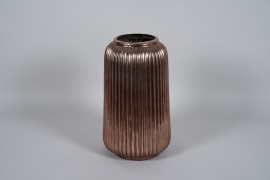 A005QL Vase en céramique cuivre D29cm H49cm