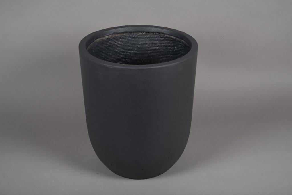A005VV Pot fibre gris anthracite D36cm H41cm