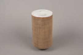 A005W5 Brown stoneware vase D13.5cm H27cm