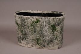 A005W6 Green ceramic planter 42x18cm H28cm