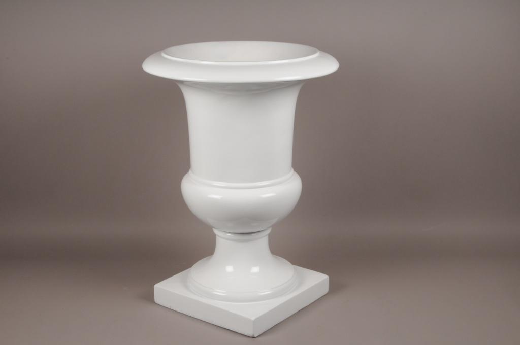 A005W7 Médicis en fibre de verre blanc D54cm H75cm