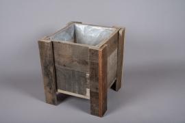 A005WT Jardinière en bois 33cm x 33cm H38cm