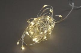 A006CO Set 5 guirlandes électriques 30 LED blanc chaud L5m