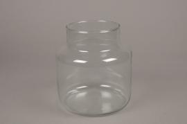 A006G9 Vase bocal en verre D19cm H20cm