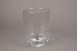 A006H9 Glass candle jar D18.5cm H24.5cm