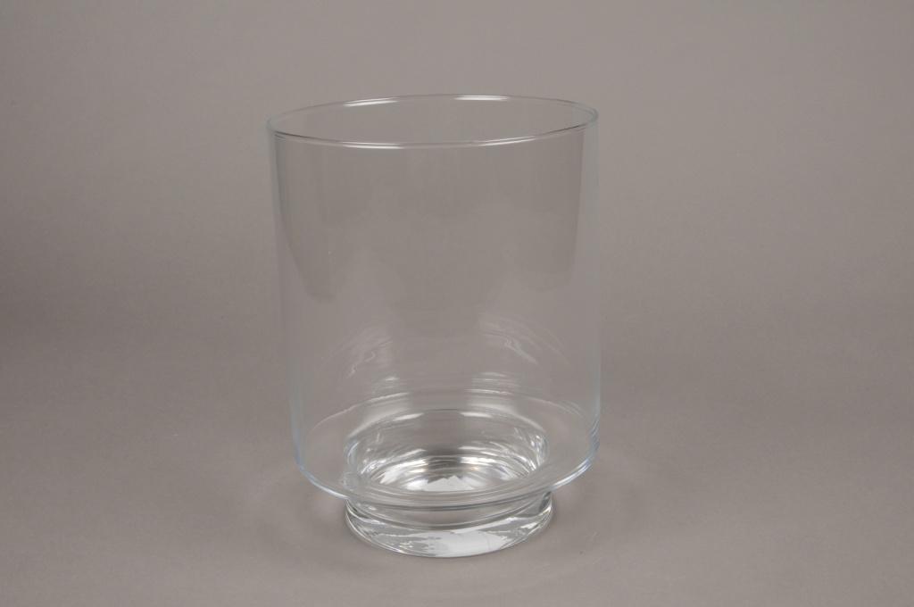 A006H9 Photophore en verre D18.5cm H24.5cm
